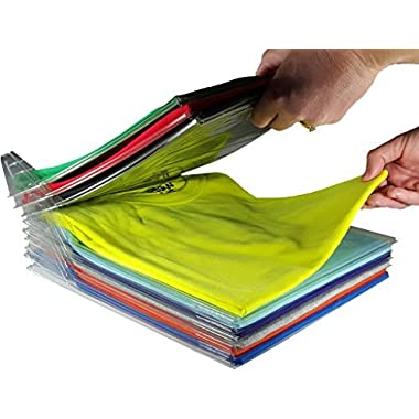 EZSTAX Closet Organizer and Shirt Folder | Regular Size, 20-Pack