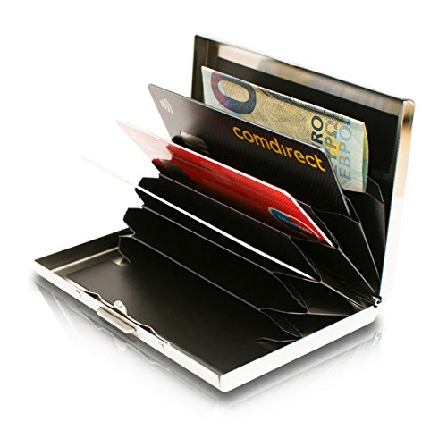 High Class Stainless Steel Card Wallet Ideal Credit Card Holders Business Card Holder Metal Slim Wallet Minimalist Rfid Blocking Smart Wallet