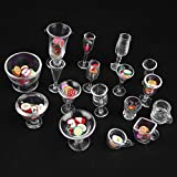forviupet Lot de 17 gobelets miniatures pour vaisselle à monter soi-même