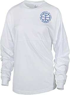 Official NCAA University of Kansas Fighting Jayhawks KU ROCK CHALK! Women's Long Sleeve Spirit Wear Jersey T-Shirt