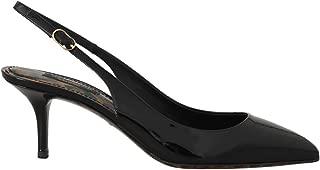Dolce & Gabbana Black Patent Leather Slingbacks Shoes