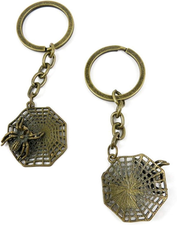100 Pieces Fashion Jewelry Keyring Keychain Door Car Key Tag Ring Chain Supplier Supply Wholesale Bulk Lots U3MY6 Spider Net Cobweb