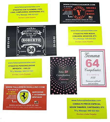 Etichette personalizzate per bottiglie di vino, 12 etichette personalizzate per bottiglie di birra, dimensioni: 21 x 15 cm, etichette personalizzate per regali Amazon