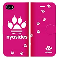 iPhone6SPlus iPhone6Plus 手帳型 ケース カバー NYASIDES ニャシデス G ハート アニマル ワンポイント 面白い 猫 ネコ ねこ