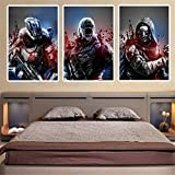 Artwcm Video Game, Destiny 3PCS Oil Paintings Modern Canvas Prints Artwork Printed on Canvas IFUNEW Wall Art for Home Office Decorations-96 (Unframed)