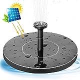 HEWYHAT Mini Solar brunnenpumpe, 1 W solarbetriebenes Vogelbad Freistehendes Outdoor Tauchbrunnen-Panel-Kit für Teich, Pool, Terrasse, Garten