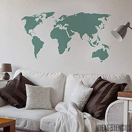 Carte Du Monde Decor Maison Pochoir Peinture Murs Fabrics Meuble Sur Mesure Decoration Pochoir Semi Transparent Pochoir S 14x26cm Amazon Fr Bricolage