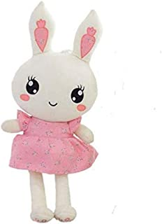50cm Children Cute Pink Floral Rabbit Plush Doll Girl Birthday Floral Doll Toy Stuffed Toys For Kids