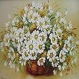 Diy pintura digital flor lienzo imagen sala de estar mural pintura al óleo decoración del hogar regalo 50x40 cm