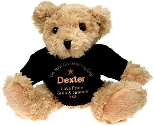 Light braun Christening Teddy Bear for a Boy