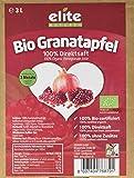 Elite Naturel Bio Granatapfel Muttersaft - Saftbox mit Zapfhahn - Granatapfelsaft (naturtrüb), 1x 3 l