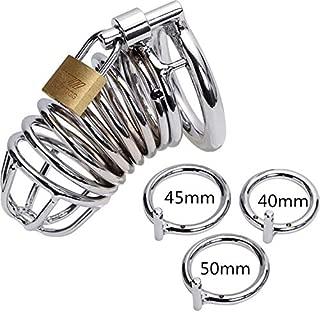 2019 Men's Metal Device ,Stainless Steel Metal Male Lock Cage(40mm)(45mm)(50mm)