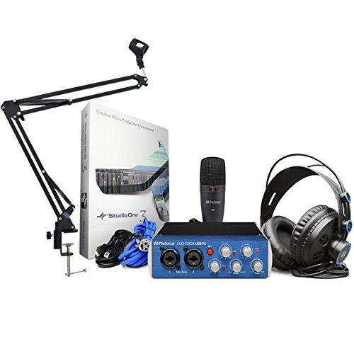 PreSonus AudioBox 96Studio Recording Set + Brazo Articulado Keepdrum trípode