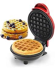 GUJIN Wafelijzermachine mini, 4.80 3.46 in roestvrij staal 350 W huishoudelijke elektrische taartfabrikant voor pannenkoeken, koekjes, chaffle, gezonde snacks, mini hamburgers, Belgische wafels
