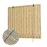 L-KCBTY Rollo Bambus|Bambusrollo Blickdicht|Vintage-Dekorationen|Für Fenster,Terrasse,Innen-,Außen-Sonnenschutz|Atmungsaktiv/Isolierung|Bambus Jalousie(anpassbar)