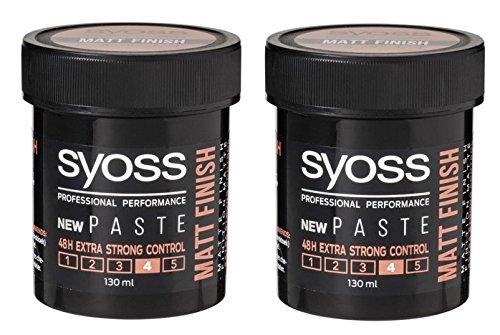 SYOSS Professional Matt Finish Style Paste Extra Strong 2 x 130 ml
