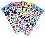 HighMount Faces Stickers 4 Sheets with Lips, Glasses, Beard, Ties Foam Eyes Decals for Craft Card Making - 140 Stickers