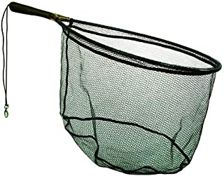 Frabill Wade Net Tear Drop Hoop with 7.5-Inch Fixed Rubber Coated Handle (Tangle Free Micro-Mesh), 19 x 25-Inch, Premium Landing Net