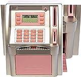 Caja de Efectivo Niños Cajero Automático Banco Electrónico Contraseña Hucha Mini Cajero Automático Dinero Seguro Dinero Dinero Banco de Dinero Niños