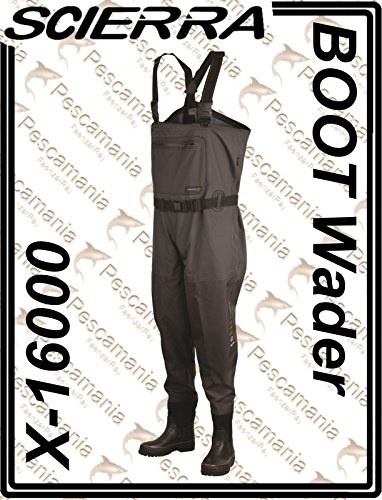 Scierra Wathose X-16000 Chest Wader Boot Foot - 44/45, Notched