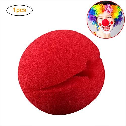 Macabolo Roter Zirkus Clown Nase Kostüm Party Cosplay Prop rote Schwamm Nase für Halloween Kostüm Party
