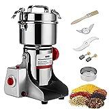 MATHOWAL Molinillo Eléctrico de Café Molinillo de Especias Mill Blender Spice Crusher Grinder Eléctrico Molinos de Cuchillas Acero Inoxidable de 3200W, Especias, Semillas o Granos, Capacidad 800 gr