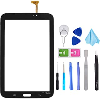 Black Touch Screen Digitizer for Samsung Galaxy Tab 3 7.0 - Glass Replacement for P3210 SM-T210 T210R T210L T217S T217A (Not Include LCD,WiFi Ver.No Speaker Hole) with Tools + Pre-Installed Adhesive