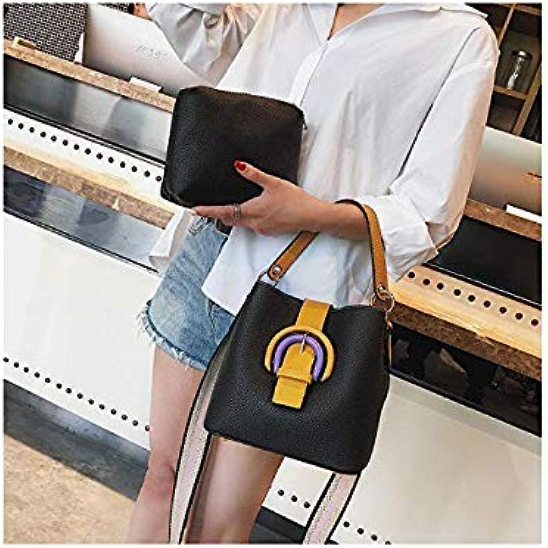 Bloomerang 2-in-1 Brand Design Bucket Bag Women Handbags High Quality Designer Fashion Style Strap Crossbody Bag Bolsos Tote color Black