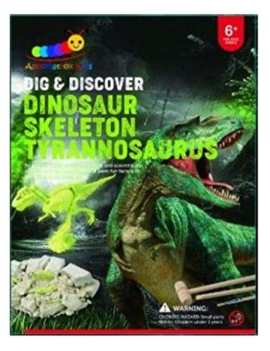 Dig and Discover Fossil Kit, Fossil Digging Kit for Kids, Early Learning STEM Toy, Fun Dig Out Fossil Excavation, Paleontology and Archaeology Science Education, Boys and Girls (Dino Dig Kit)