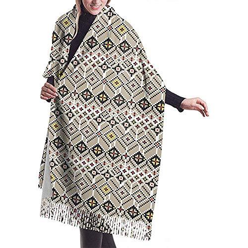 An Green Die traditionellen Kaschmirschals der Balkan-Volksfrauen wickeln Schals mit Quasten für Fall-Winter ein