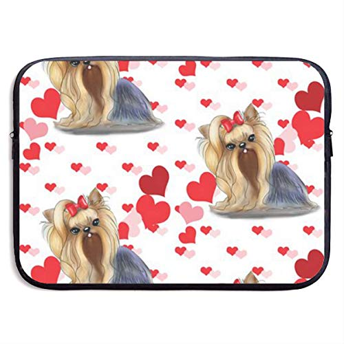 Cute Poodle Laptop Sleeve Bag Case,Waterproof and Foldable Laptop Briefcase Neoprene Soft Carring Tablet Travel Case,13 inch