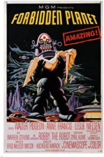 forbidden planet MOVIE POSTER directed by FRED M. WILCOX sci-fi cult 1956 24X36