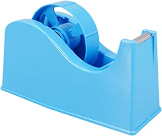 "Desktop Tape Dispenser Adhesive Roll Holder (Fits 1"" & 3"" Core) with Weighted Nonskid Base Blue"