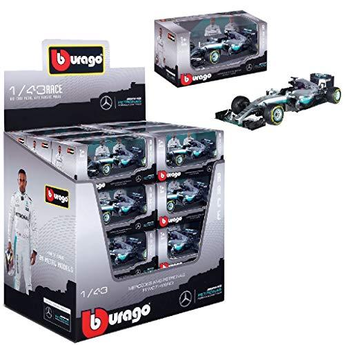 Bburago 15638126 1:43 F1 Mercedes AMG Petronas W07, 2016 Sortiert