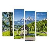 Bild auf Leinwand schöne Aussicht berühmte Kapelle