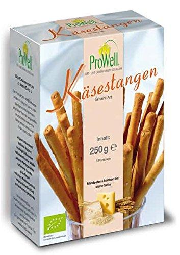 ProWell Diät- und Ernährungsprogramm - Bio-Käsestangen Grissini-Art - 250 g (5 Portionen)