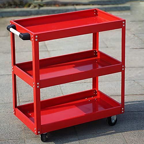 WanuigH Tool Trolley Hand Vrachtwagens Auto Reparatie Gereedschap Trolley Drie-Verhaal Multifunctionele Auto Plank Kast Werkbank Hardware Onderdelen Trolley Multifunctioneel