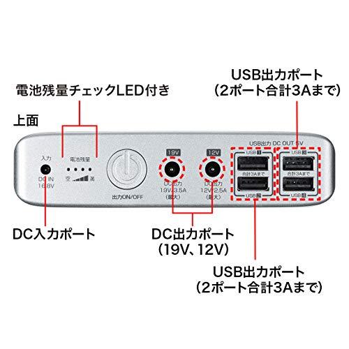 サンワサプライノートパソコン用モバイルバッテリーBTL-RDC12N