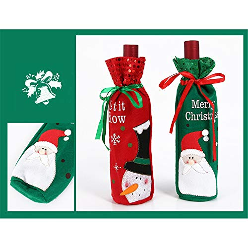 QLKJ Botella De DecoracióN De Navidad Paquete De Regalo De Regalo Botella De Lentejuelas De Navidad Paquete De Accesorios De DecoracióN De Navidad