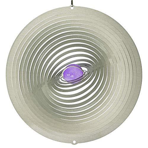 CIM Mobile en Acier Inoxydable - Strudel 200 - réflecteur de lumière - Diamètre : 20cm - INCL. Système d'accrochage et Bille de Verre