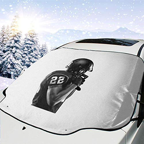 Joy Wholesale American Football Windshield Snow Cover Ice Removal Wiper Visor Protector All Weather Winter Summer Auto Sun Shade for Car/Truck/SUV 58