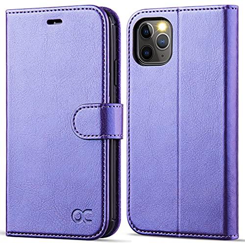 OCASE iPhone 11 Hülle Handyhülle [Premium Leder] [Standfunktion] [Kartenfach] [Magnetverschluss] Tasche Flip Hülle Cover Etui Schutzhülle lederhülle flip case für iPhone 11 (Violett)