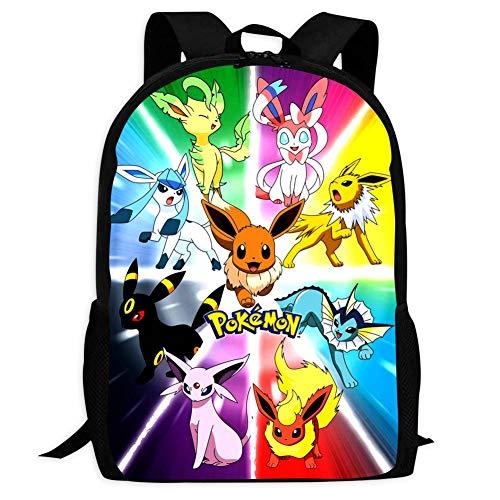 BEKAI E-evee Evolution Poster | School Bags Multiple Pockets Backpack for Kids/Youth/Boys/Girls
