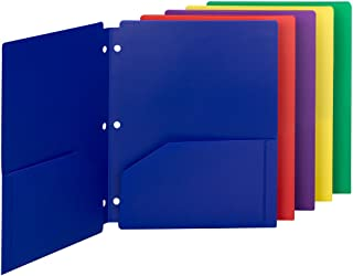 Smead Poly Snap-in Two-Pocket Folder, Letter Size, Assorted Colors, 10 per Pack (87939)