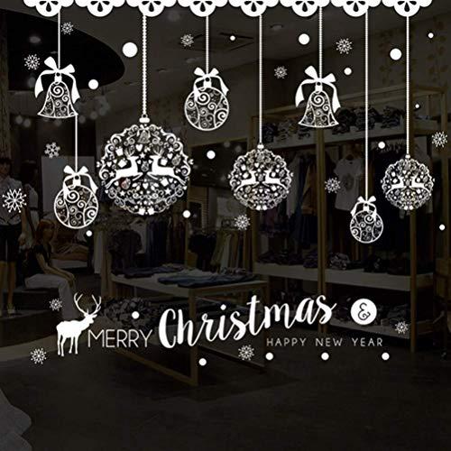 dfhdrtj Woonlijk Kerstmis muursticker raam vakantie Kerstmis ketting deur sticker glas sticker huis decoratie 50 70cm