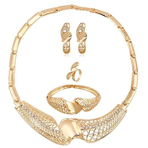 GYJUN Bijoux Colliers décoratifs / Boucles d'oreille / Anneaux / Bracelet , golden