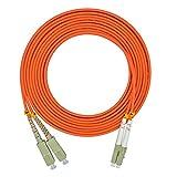 Jeirdus 10 Meters 33ft LC to SC Duplex 62.5/125 OM1 Multimode Fiber Optic Cable Jumper Optical Patch Cord LC-SC