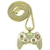 ZPPYMXGZ Co.,ltd Collar de Moda Diseño Creativo Controlador de Videojuegos Colgante Cadena Collar Chapado en Oro Hip Hop Party Club Joyería