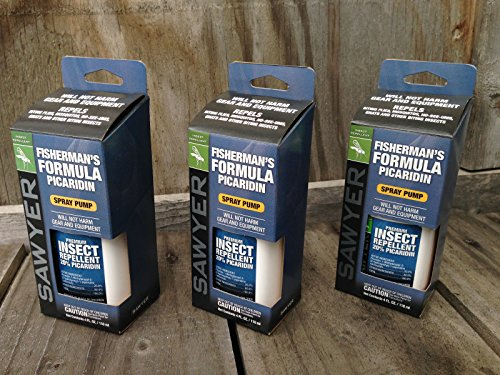 3 PACK Sawyer Picaridin Insect Repellent Fisherman's Formula 4 oz spray SP544