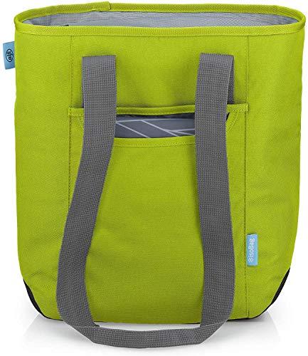 alfi Thermo-Kühltasche, isoBag klein 13 Liter - Isolierte Einkaufstasche aus Polyester, grün 34 x 13 x 35 cm - 2in1, Isoliertasche inkl. extra Tragetasche - 0007.278.811